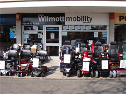 Wilmott Mobility shop front